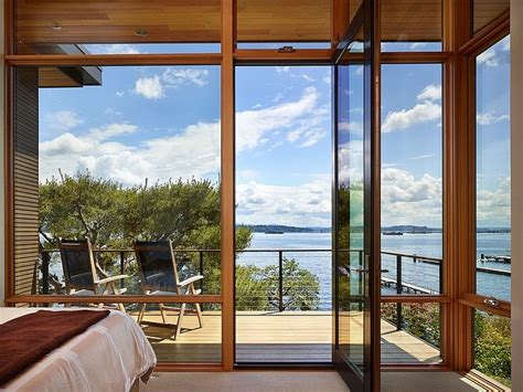classic seattle lakefront house gets a bookish modern twist lakefront house in seattle promises solitude along with