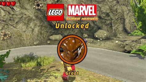 lego marvel boat unlock lego marvel unlock groot 3rd groot mission youtube