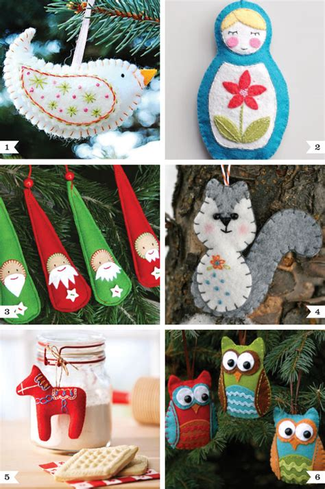 diy decorations sewing diy felt ornaments chickabug