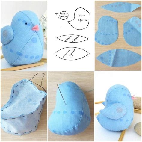 fabric crafts doll how to make fabric bird doll step by step diy