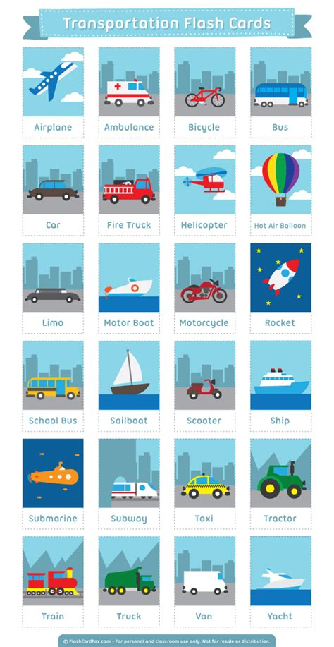 english themes download free printable transportation flash cards download them