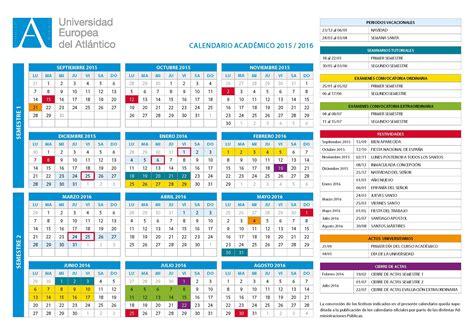 fechas de semana santa 2016 uneatlantico publica el calendario acad 233 mico 2015