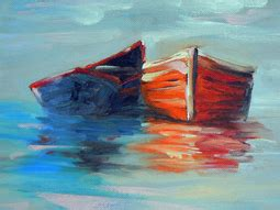 boat canvas belleville small oil paintings still life and landscape by