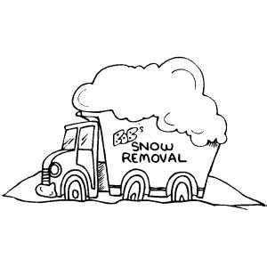 coloring book removed snow removal car coloring page