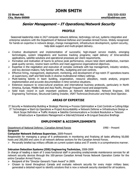 Network Security Manager Resume Sle Template It Security Resume Template