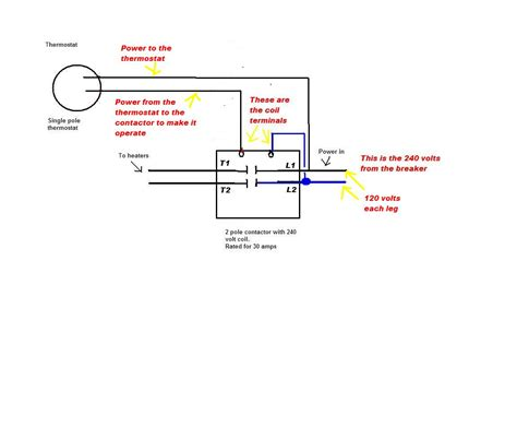 wire diagram for 4 pole 240v thermostat 4 wire thermometer
