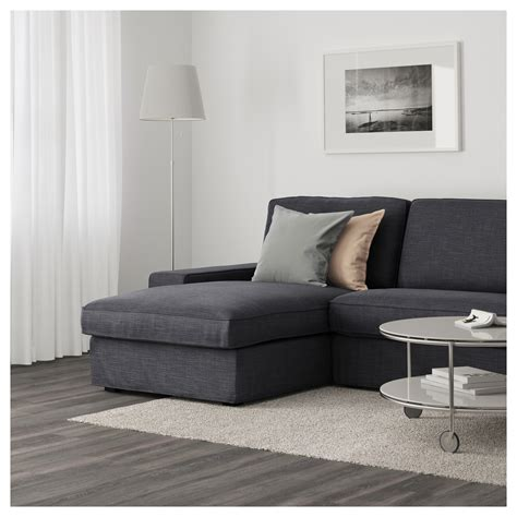 ikea chaise sofa kivik three seat sofa and chaise longue hillared