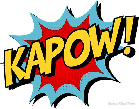 Wall Removable Sticker For Kids quot kapow comic book quot stickers by spacealientees redbubble