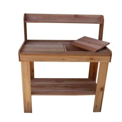 potting benches home depot outdoor living today 4 ft x 2 ft western red cedar