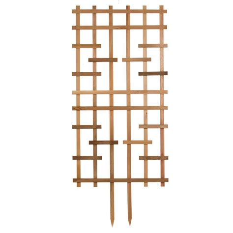 36 in redwood barrel trellis 23230 the home depot