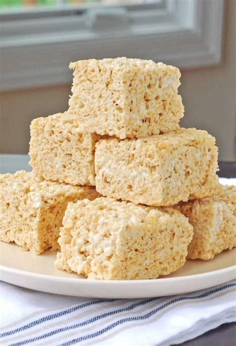 salted brown butter krispy treats blissfully delicious