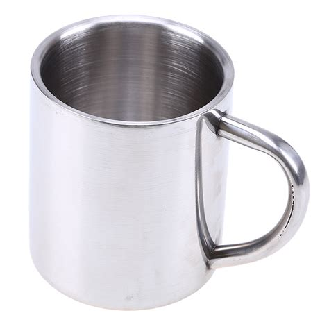 coffee mug handle stainless steel mug double wall tumbler with grip handle