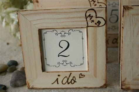 Rustic Wedding Decor Set Of 8 Table Number Frames For Your