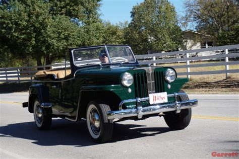 willys jeepster interior 1949 willys oveland jeepster restored emerald green