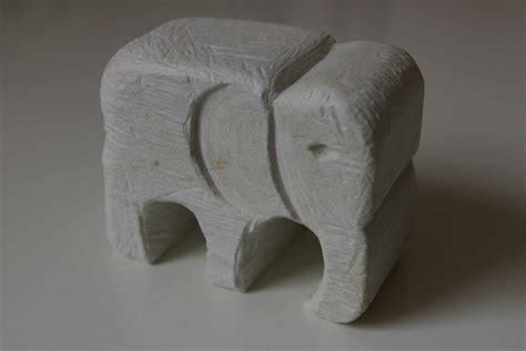 soap stone elephant hand carved by me soap carving