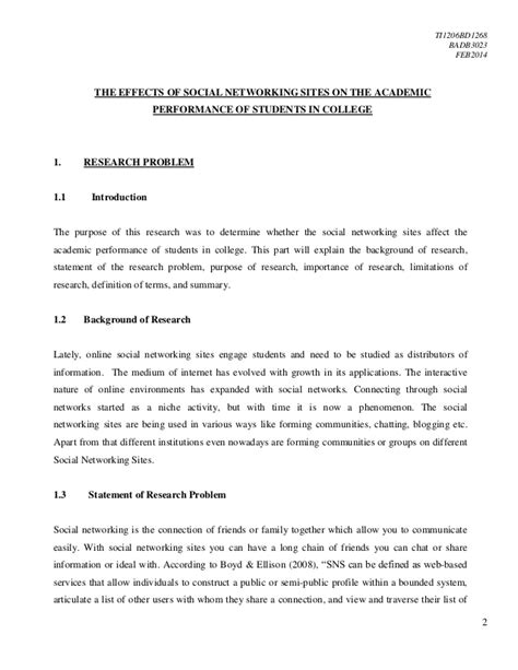 research paper on effects of social networking social network introduction essay