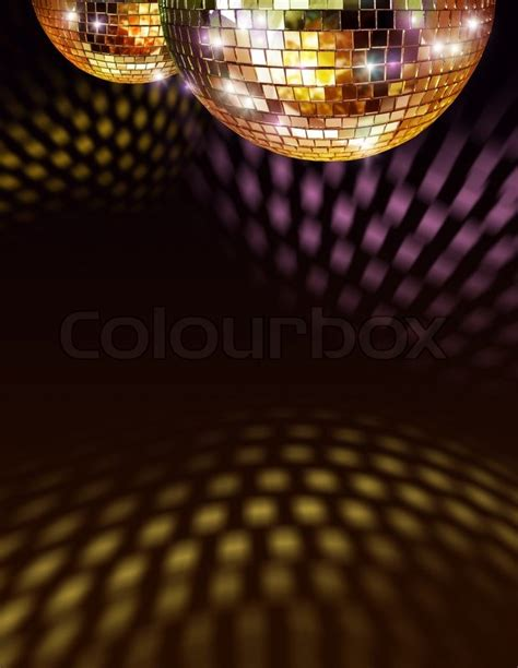 disco ball floor l golden disco mirror ball reflections on ceiling and floor