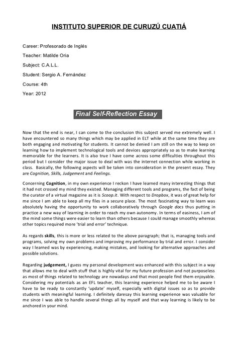up letter essay call self reflection essay