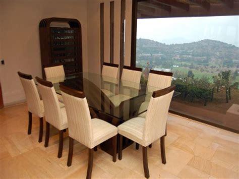 mesa de comedor de vidrio modelo