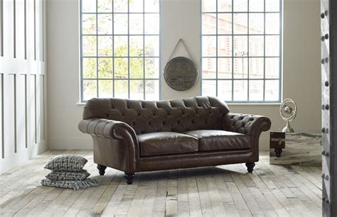 vintage brown leather sofa vintage leather sofa chesterfield company