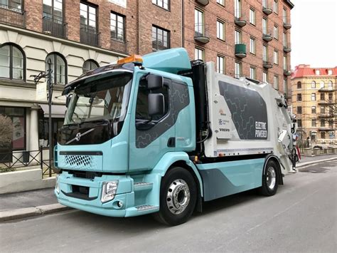 volvo heavy vehicles volvo fl electric truck gets to work heavy vehicles