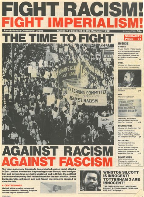 to fight against this age on fascism and humanism books frfi 104 dec 1991 jan 1992