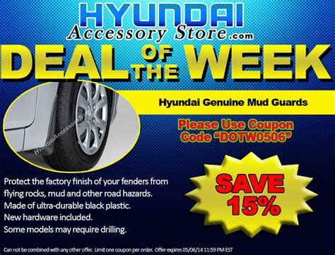 Accessory Of The Week by Hyundaiaccessorystore S Deal Of The Week 05 06 14 05 13 14