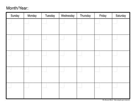 Free Online Weekly Calendar Template