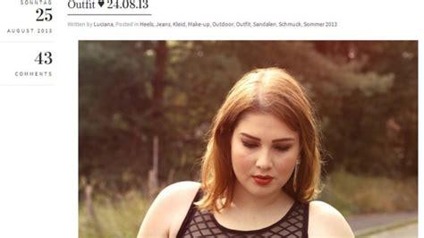 Lu Sein bloggerin will vorbild sein modeblogs lu w 252 nscht sich mehr plus size