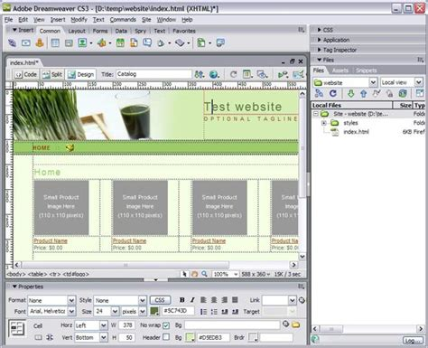 design html page using dreamweaver dreamweaver library item if template