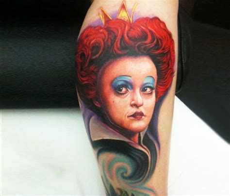 tattoo queen st portrait red queen tattoo by paul acker no 13