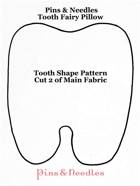 Tooth Pillow Template tooth pillow d i y pins needles