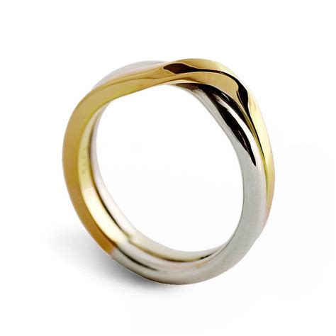 Two Tone Wedding Band by Knot Two Tone Wedding Band Unique Wedding Ring