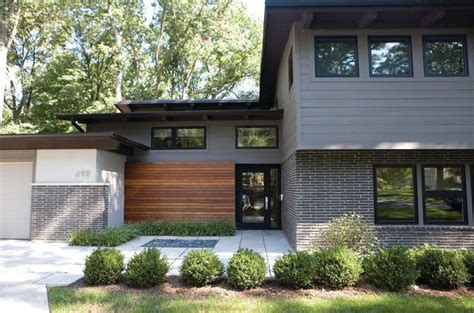 split level garage modern split level exterior midcentury with attached