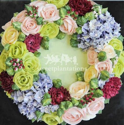 Wreath Style Korean Buttercream 92 best korean buttercream floral cakes images on floral cake korean and cake