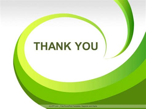 thank you powerpoint template green leaves abstract ppt design free daily