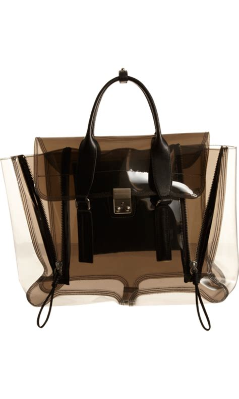 Pouch Kosmetik Transparant 3 In 1 yes you can carry a transparent bag into fall like this 3 1 phillip lim clear pashli satchel