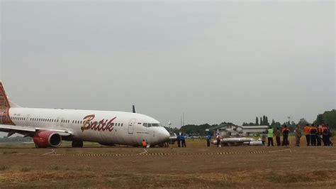 batik air yang tergelincir batik air tergelincir yogya perlu bandara baru okezone news
