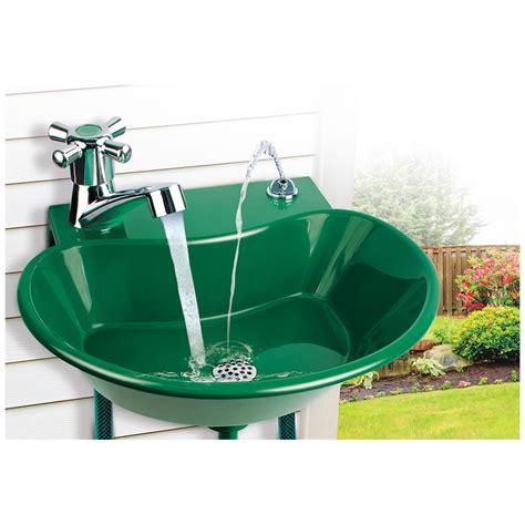 outdoor    water fountain faucet  yard