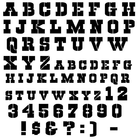 font template cool letter stencils www pixshark images galleries