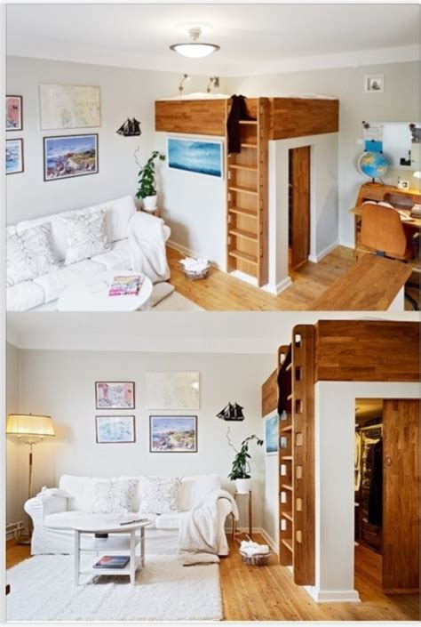 loft bed with closet loft closet bed my house my palace pinterest