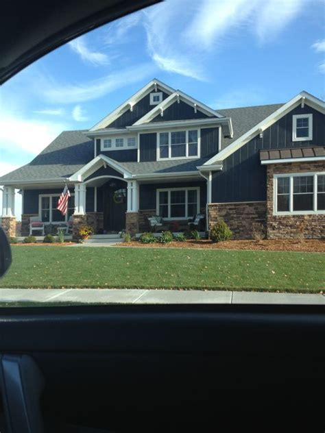 exterior house colors irepairhome com love the dark blue siding dark brown brick and white