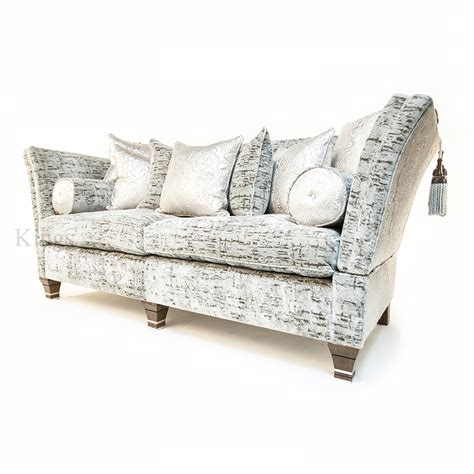 Silver Sofas david gundry upholstery large madrid knole with snuggler