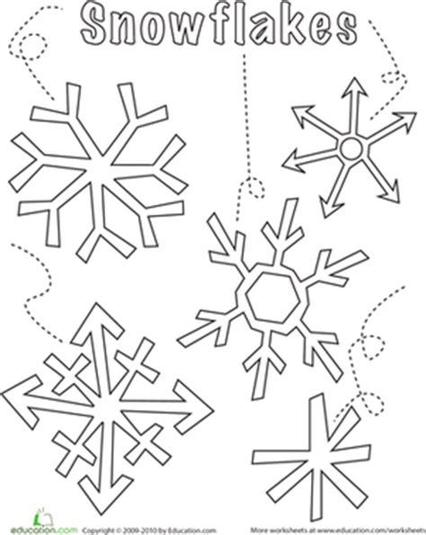 snowflake pattern for preschool snowflake worksheet education com