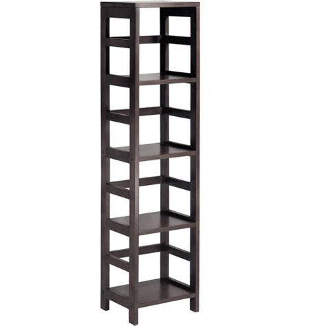 Shelf Of Sec by Leo Storage Open Shelf 5 Tier 4 Section Espresso