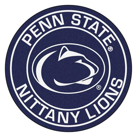 penn state area rug fanmats ncaa penn state navy 2 ft 3 in x 2 ft 3 in accent rug 18634 the home depot