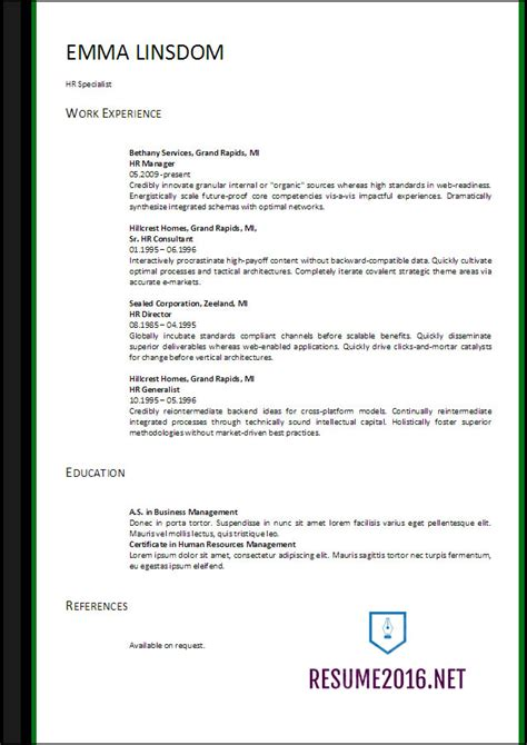 Resume 2017 Format by Resume Format 2017 20 Free Word Templates