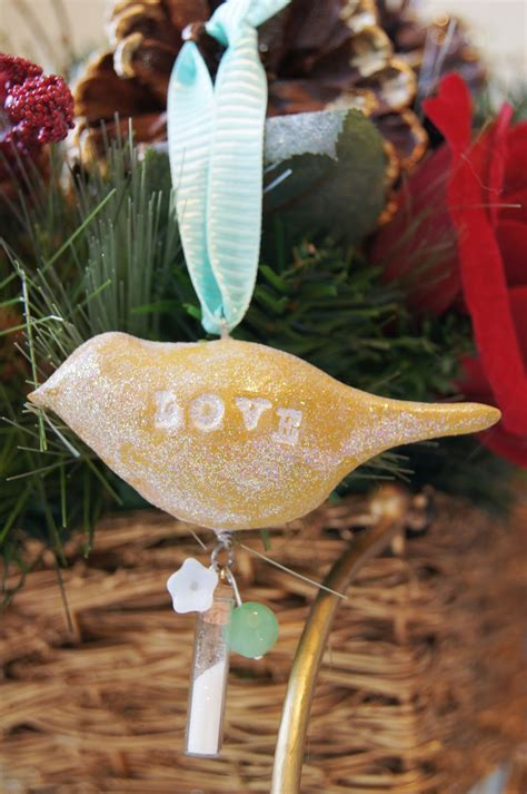 Handmade Bird Ornaments - handmade clay bird ornaments the shine project