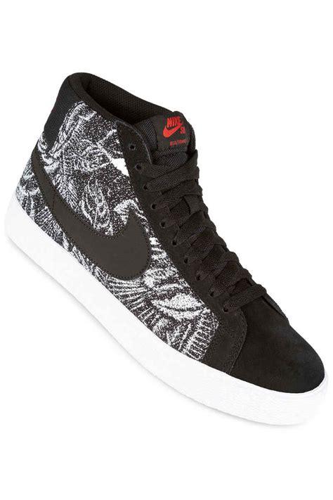 blazer shoes nike sb zoom blazer mid shoes black black white buy at
