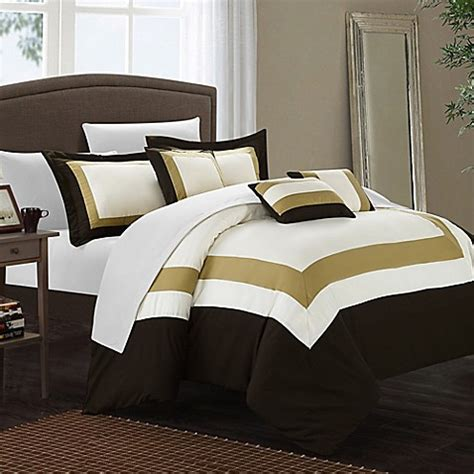 dylan comforter set buy chic home dylan 10 piece king comforter set in gold